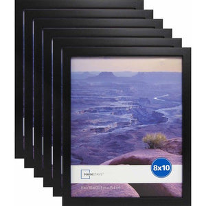 MAINSTAYS 8 x 10 LINEAR FRAME BLACK SET OF 6