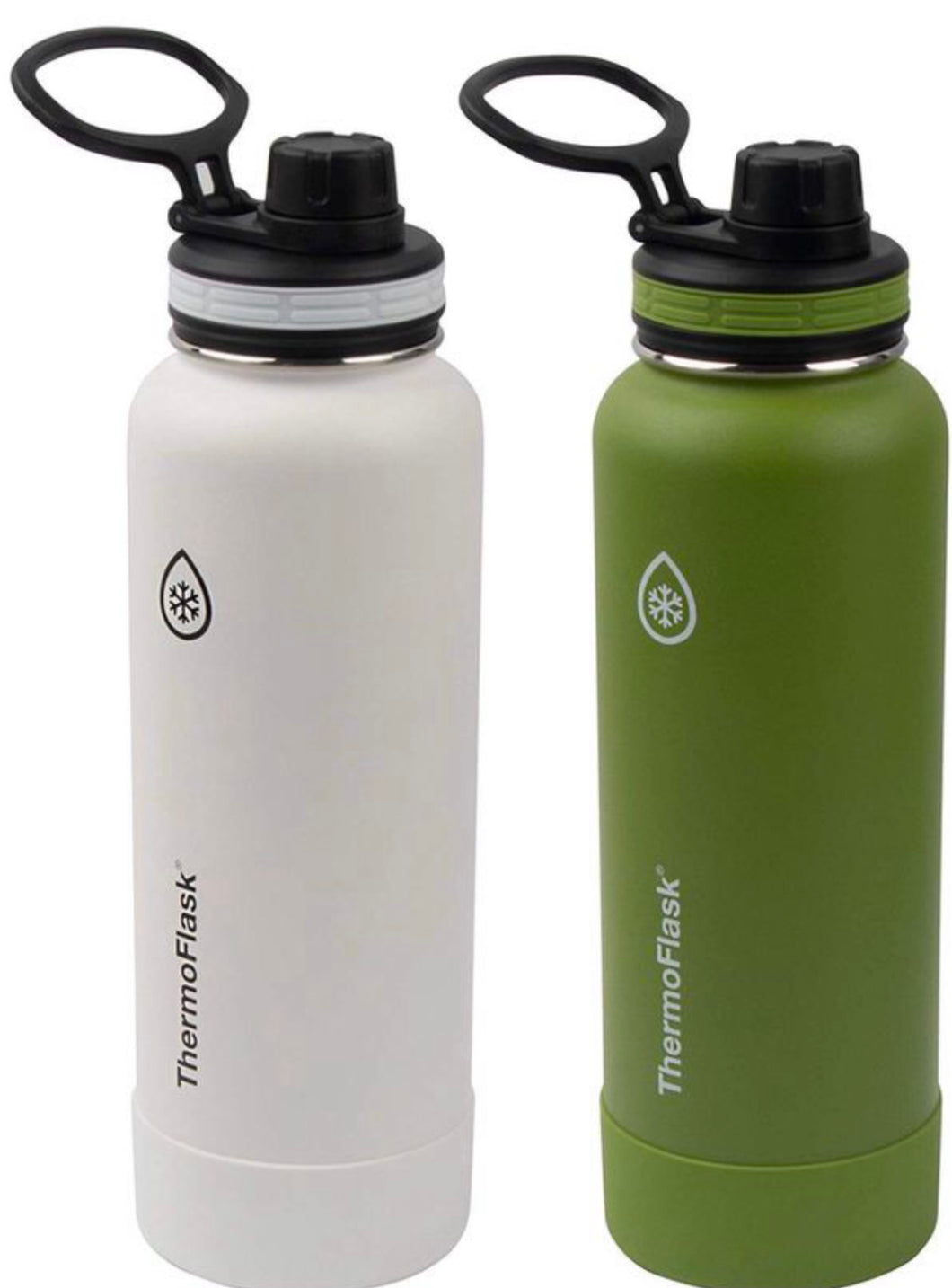 THERMOFLASK 2 PACK LIGHT WITHE/GREEN 40 OZ
