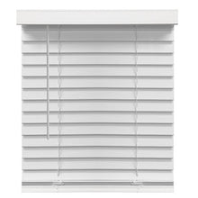 "Load image into Gallery viewer, RICHFIELD STUDIOS 2"" CORDLESS FAUX WOOD BLINDS, WHITE 59.5 X 72"