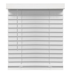 "RICHFIELD STUDIOS 2"" CORDLESS FAUX WOOD BLINDS, WHITE 59.5 X 72"