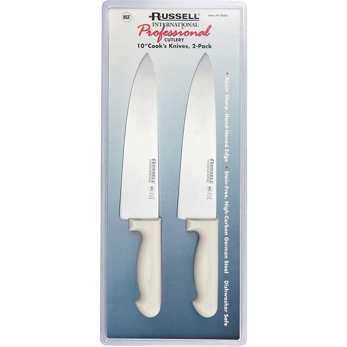 "RUSSELL 10"" COOK'S KNIFE, 2- COUNT"