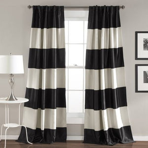 MONTENEGRO STRIPE WINDOW CURTAIN SET, GOLD