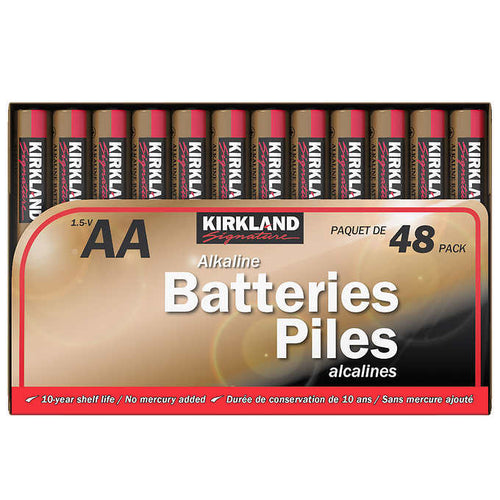 KIRKLAND SIGNATURE AA ALKALINE BATTERIES, 48-COUNT