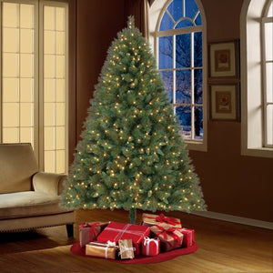 HOLIDAY TIME PRE-LIT 7.5' PRESCOTT PINE CHRISTMAS TREE, LED CLEAR LIGHTS