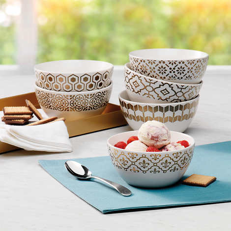 MIKASA CELEBRATIONS BOWLS 6- PIECE SET