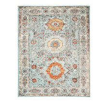 Load image into Gallery viewer, IMPRESSIONS LOBELIA MODERN TRIBAL MEDALLION AREA RUG 6' X 9'