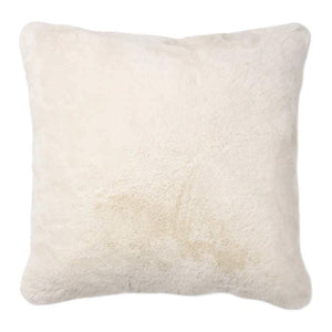 IVORY FAUX FUR PILLOW 20x20