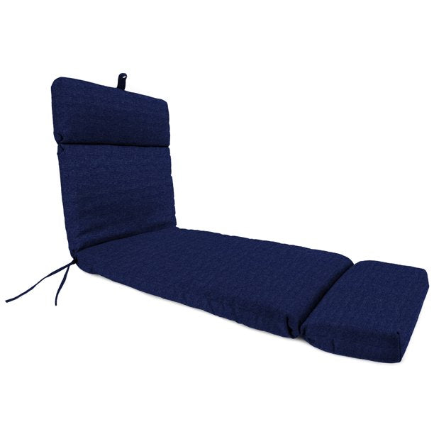 MAINSTAYS SOLID NAVY OUTDOOR PATIO CHAISE LOUNGE CUSHION