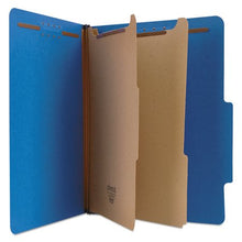 Load image into Gallery viewer, UNIVERSAL PRESSBOARD CLASSIFICATION FOLDERS,LETTER , SI-SECTION P, COBALT BLUE, 10/BOX