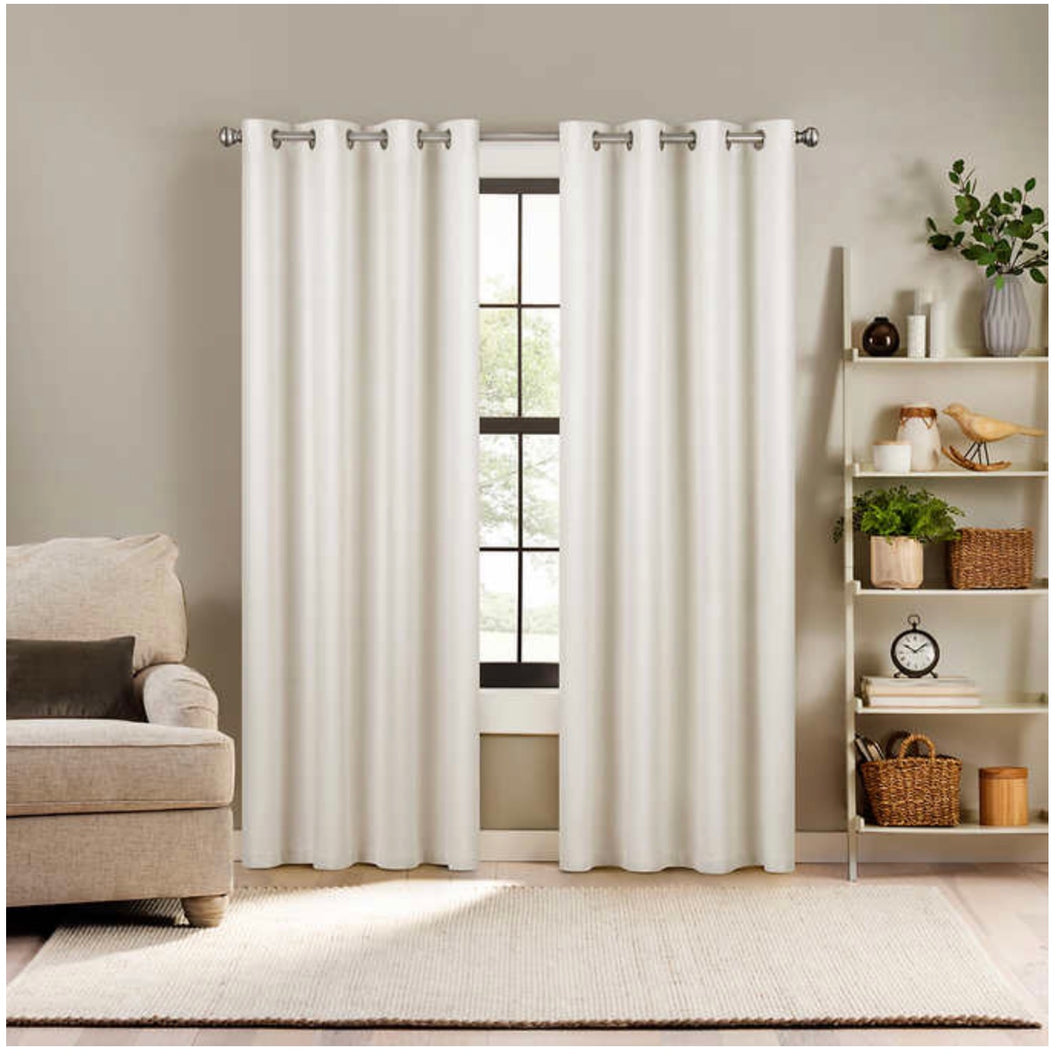 ECLIPSE DUOTECH TOTAL BLACKOUT WINDOW CURTAIN PANEL, 2- PACK (52 X 84)