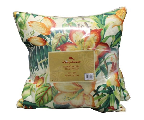 TOMMY BAHAMA I DOOR/ OUTDOOR 2PK DECORATIVE PILLOW