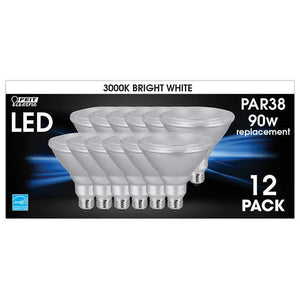 FEIT ELECTRIC LED PAR38 BRIGHT WHITE, 12- PACK