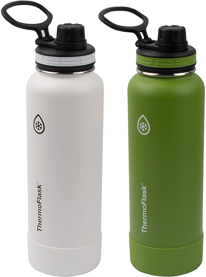 THERMOFLASK DOUBLE WALL VACUUM INSULATED STAINLESS STEEL WATER BOTTLE 2- PACK
