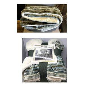 MON CHATEAU ULTIMATE PLUSH THROW (LIGHT OLIVE)