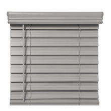 "Load image into Gallery viewer, RICHFIELD STUDIOS 2.5 "" CORDLESS FAUX WOOD BLINDS GRAY STONE (23 X 72 )"