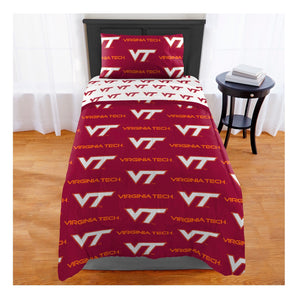 THE NORTHWEST COMPANY VIRGINIA TECH HOKIES 4-PIECE TWIN BED IN A BAG SET