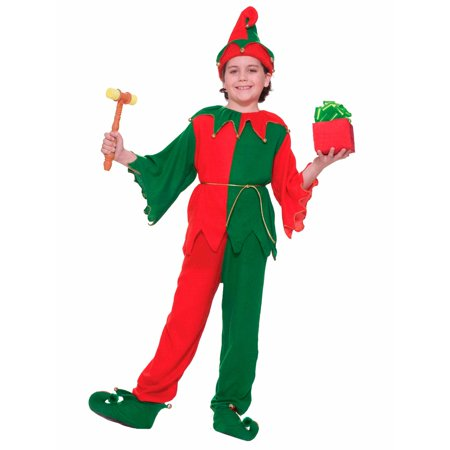 CHILDRENS SANTA'S ELF COSTUME SIZE S