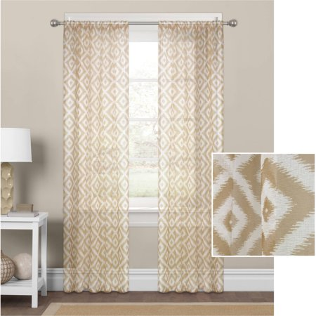 MAINSTAYS DIAMOND SHEER WINDOW CURTAIN PANEL PAIR 56 x 84