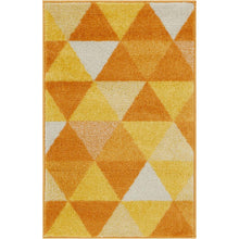 Load image into Gallery viewer, MYSTIC ALVIN ORANGE 2FT x3FT MODERN GEOMETRIC TRIANGLES DOOR MAT