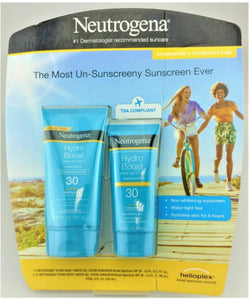 NEUTROGENA 2 PACK HYDRO BOOST SUNSCREEN 30 SPF