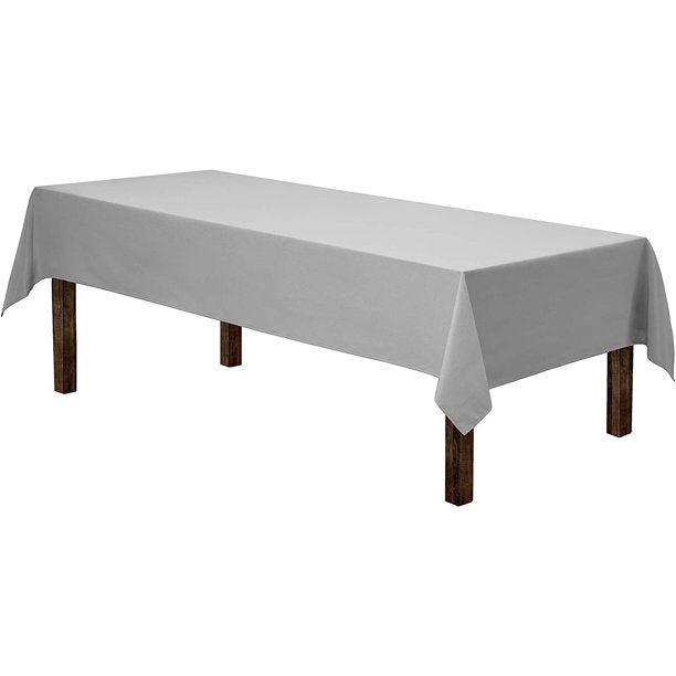 Gee Di Moda 90-Inch-by-132-Inch Polyester Rectangular Tablecloth, charcoal
