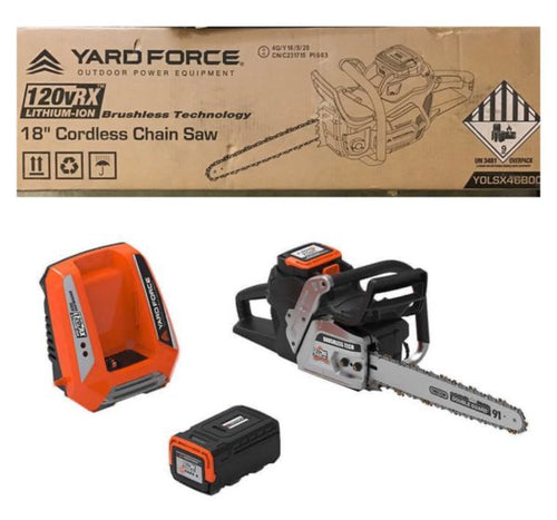 YARD FORCE 120V CORDLESS CHAINSAW KIT