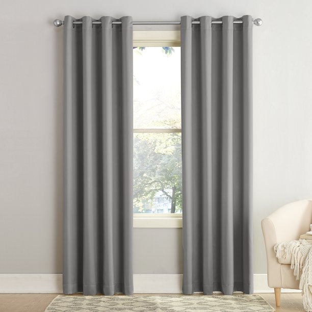 SUN ZERO MADISON ROOM DARKENING GROMMET CURTAIN PAIR 54x63