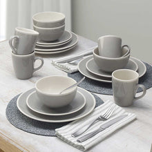 Load image into Gallery viewer, GOURMET BASICS MELANIE 16- PIECE DINNERWARE BY MIKASA