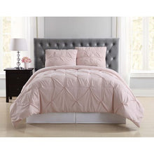 Load image into Gallery viewer, TRULY SOFT PLEATED BLUSH FULL/QUEEN COMFORTER SET