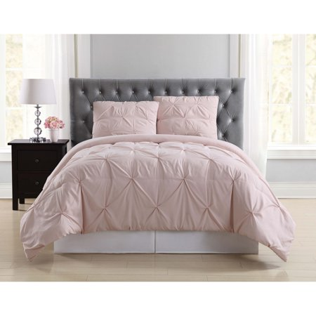 TRULY SOFT PLEATED BLUSH FULL/QUEEN COMFORTER SET