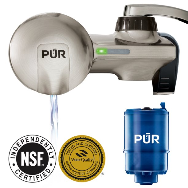 PUR ADVANCED FAUCET WATER FILTER, PFM450S, STAINLESS STEEL STYLE