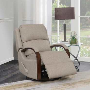 MARSDEN FABRIC SWIVEL GLIDER RECLINER