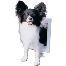 "Load image into Gallery viewer, IDEAL THERMOPLASTIC DOG DOOR, OFF WHITE, SMALL 10.62""L X 2.12"" W X 7""H"