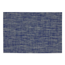 Load image into Gallery viewer, FURNISHING SET OF 6 DECORATIVE NAUTICAL BLUE TONAL TWEED TABLE PLACEMATS 19""