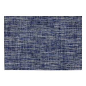 FURNISHING SET OF 6 DECORATIVE NAUTICAL BLUE TONAL TWEED TABLE PLACEMATS 19""