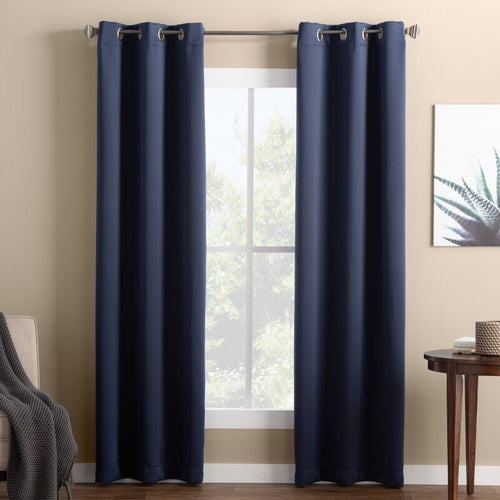 SUNBLK EVERLY TOTAL BLACKOUT WINDOW CURTAIN PANEL, 2-PACK EVERLY NAVY