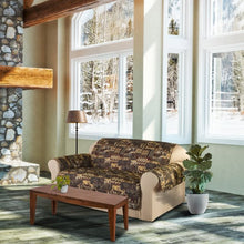 Load image into Gallery viewer, INNOVATIVE TEXTILE SOLUTIONS 1-PIECE LODGE PRINT LOVESEAT FURNITURE COVER SLIPCOVER