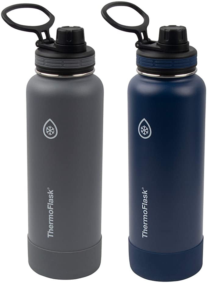 THERMOFLASK 2 PACK GRAY/NAVY 40 OZ