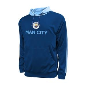 MANCHESTER CITY SIDE STEP PULLOVER HOODIE - NAVY (S)