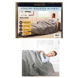 **OVERSTOCKED PRICE DROP!* PENDLETON COOLING WEIGHTED BLANKET 15 LBS GRAY