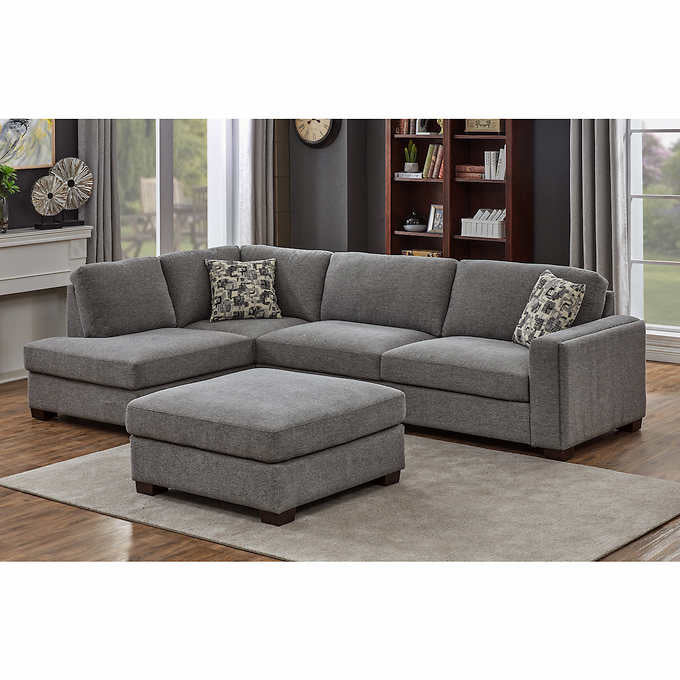 MAYCEN FABRIC SECTIONAL WITH OTTOMAN