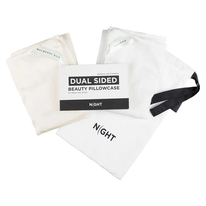 NIGHT DUAL SIDED BEAUTY PILLOWCASE , 2- PACK