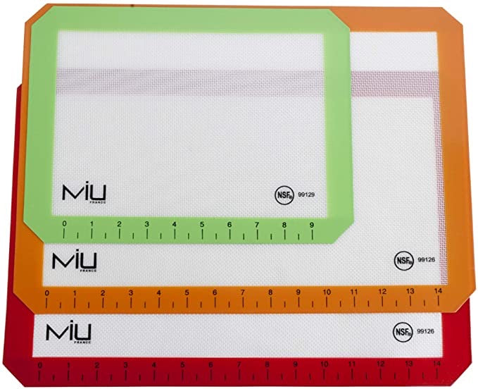 MIU SILICONE 3- PC BAKING MATS