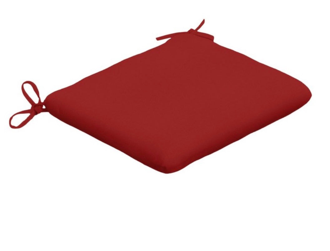 SUNBRELLA OUTDOOR SEAT PADS (2PACK ) RED