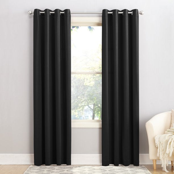 SUN ZERO MADISON ROOM DARKENING GROMMET CURTAIN PANEL PAIR 54 X 63