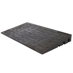 "SILVER SPRING 4"" HIGH RUBBER 3- CHANNEL THRESHOLD RAMP"