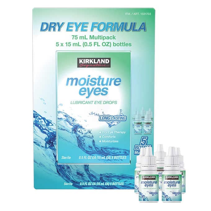 KIRKLAND SIGNATURE MOISTURE EYES DRY EYE THERAPY DROPS, 75 ML