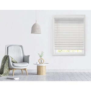 "RICHFIELD STUDIO 2.5"" CORDLESS FAUX WOOD BLINDS, WHITE"