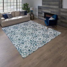 "Load image into Gallery viewer, CENTENNO RUG COLLECTION, MEDALLION BLUE 5'3"" X 7'"