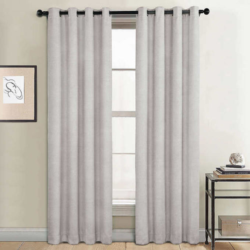 SUNBLK EVERLY BLACKOUT WINDOW CURTAIN PANEL ,2- PACK (52 x 84)
